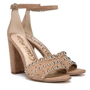 Sam Edelman Yaria Studded Block Heel Sandal 9M NWT